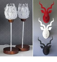 oh love the protea wire flower light stands Wire Flowers, Flower Lights, Colorful Shoes, Clean Shoes, Table Arrangements, Letterpress, Beautiful Things, Dining Room, Delicate