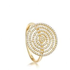 I love the Icon Aura diamond Ring 14ct yellow gold from Astley Clarke.