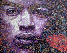 Jimi Hendrix, Original Paintings, Abstract, Canvas, Gallery, Artwork, Hippy, Fictional Characters, Summary
