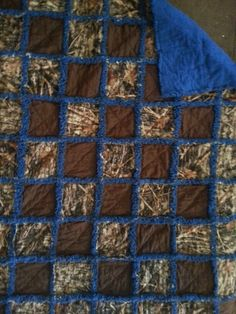 Newest Camo Quilt True Timber and Blue 35X45 Facebook page ragamuffinfleecethrows
