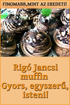 Cookie Recipes, Dessert Recipes, Desserts, Peach Yogurt Cake, Sweet Cupcakes, Hungarian Recipes, Street Food, Food To Make, Food And Drink