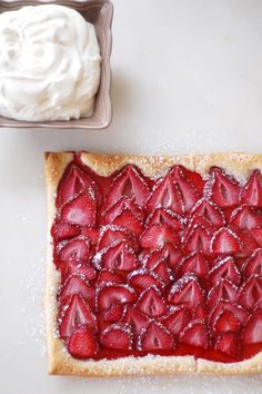 Easy Strawberry Tart. I think I could just put my face in this and indulge. Pretty scary visual...I know, but strawberries have my heart, my soul, my everything. I LOVE them.