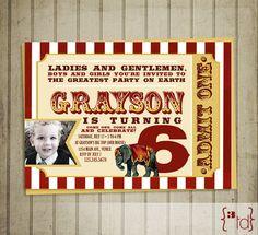 Classic Circus Invitation DIY Printing