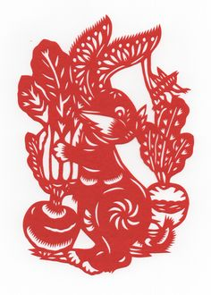 Chinese Papercut - Year of the Rabbit.