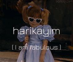 Turkish phrase: harikayım - I am fabulous olmak - v. to be harika - adj. Learn Turkish Language, Learn A New Language, English Language Learning, Istanbul Turkey, Foreign Languages, Walpaper Phone, Celebrities, Anime, Reading