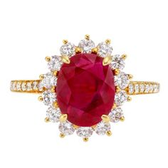 TIffany Ruby and Diamond Gold Ring - rubies  - diamonds - and gold! What's not to love? Jewels made for royalty!