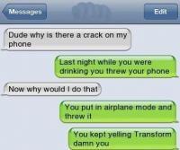 transform damn you!