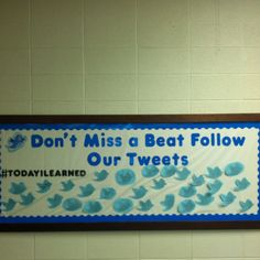 Interactive Twitter Bulletin Board. The students wrote what they learned on a bird as both a closure to the lesson and a formative assessment. If you can't tell, I love making bulletin boards!