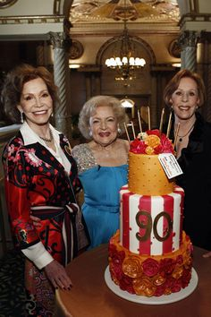 Betty White -- (1/17/1922-??). Actress/Comedian/Singer/Author/Television Personality/Game Show Panelist. Betty White celebrates her 90th birthday! with Mary Tyler Moore and Carol Burnett.
