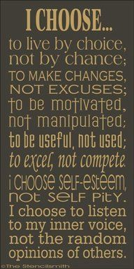 I choose to live by choice not by chance.....# www.fdmre.com