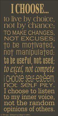 Not choosing IS choosing!