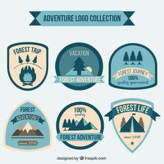Vintage adventures badges Free Vector