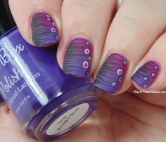 Ashley is PolishAddicted: 31 Day Challenge: Day 6 - Violet Stripes and Dots