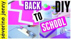 DIY BACK TO SCHOOL Français - Facile et Pas cher