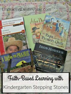 Enjoy a thematic, literature rich faith-based curriculum with Kindergarten Stepping Stones from Kendall Hunt RPD. Homeschool review