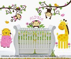 jungle nursery girl - Google Search