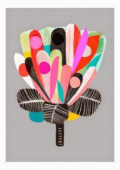 I N A L U X E : Protea - Flower Print,  Art work by Kristina ©inaluxe: Kristina Sostarko