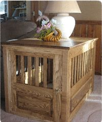 Ash Wood Dog Crate - made to order in different finishes $310