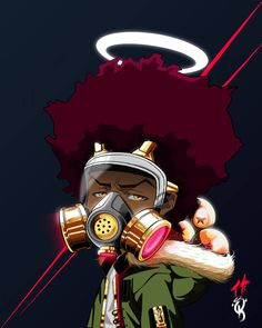 Guard yourself from toxic people. #art #craft #anime #manga #comics #cartoons #boondocks #black - ceethekreator