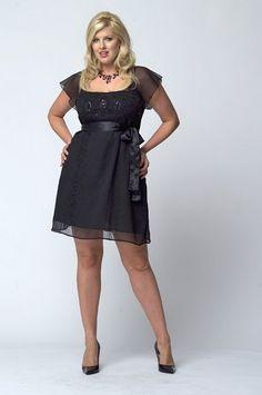 cute black short plus size dress