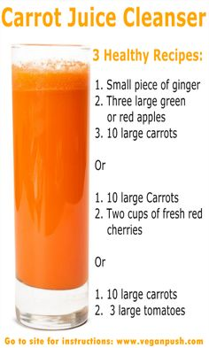 Carrot Juice Cleanser & The Health Benefits
