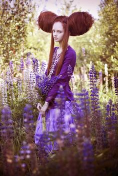❀ Flower Maiden Fantasy ❀ beautiful photography of women and flowers - lavender
