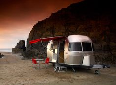 Camping on the beach in an Airstream - what could be sweeter? #travel