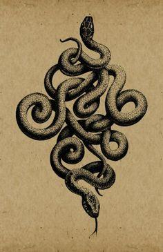 Serpent tattoo on Pinterest