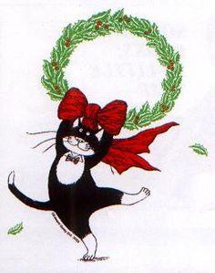 edward gorey christmas cat