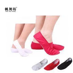 Children Girls Canvas Pink dance shoes soft bottom shoes Yoga shoes US SZ 10-11