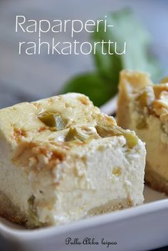 Bun-Old Woman baking: Rhubarb rahkatorttu Baking Recipes, Cake Recipes, Dessert Recipes, Finnish Recipes, Summer Cakes, Rhubarb Recipes, Sweet Pie, Sweet Cakes, No Bake Desserts