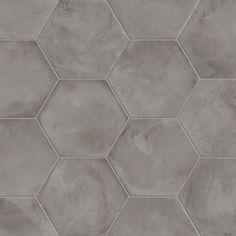 #Marca Corona #Terra Antracite Esagonale 25x21,6 cm 0093   #Gres #cementine #25x21,6   su #casaebagno.it a 56 Euro/mq   #piastrelle #ceramica #pavimento #rivestimento #bagno #cucina #esterno