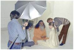 Backstage at the iconic yoga session with übermodel Veruschka, her teacher Swami Satchidananda and master lensman Richard Avedon. The images were printed in in Vogue US 1972 and served as a great inspiration for Le Yoga Shop Paris.