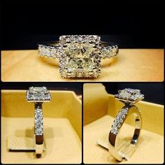Princess Cut 1.50 Ct Diamond Ladies Wedding Engagement Ring 14K White Gold Over #giftjewelry22 #SolitaireWithAccentsRing