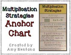 Multiplication Strategies Anchor Chart- Free!