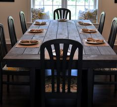 Blog post full of links to farmhouse table tutorials!