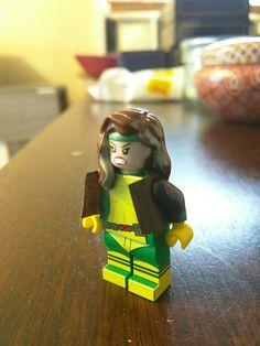 Close up of Rogue Lego