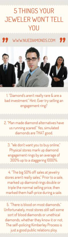 5 Things Your #Jewelry Store Doesn't Want You to Know | Nue Diamonds #engagementring #manmadediamonds