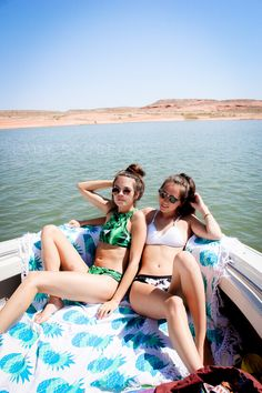Summertime Travels to Lake Powell in Utah ❂ Pineapple Mandala from Lady Scorpio☽ ✩ Save 25% off all orders with code PINTERESTXO at checkout | Bohemian Bedroom + Home Decor | Mandala Tapestries, Wall Hanging Decor by Lady Scorpio | Shop Now LadyScorpio101.com | @LadyScorpio101 | Wanderlust Photography by Luna Blue @Luna8lue | Tropical Bikini from Cupshe | Boating Brunettes Model Kenna Downard