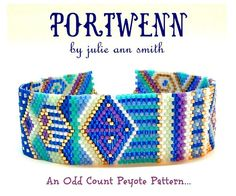 You are purchasing an odd count peyote digital pattern....NOT THE ITEM IN THE PHOTO!! I have few addictions. I must admit this pattern was created from one of those. A UK television show called DOC MARTIN is one of my favorite shows. Yes, one of my addictions. The mythical place