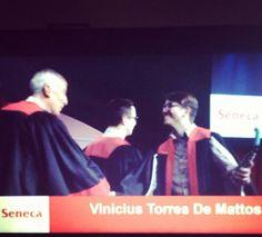 Formando e trabalhando ao mesmo tempo. Graduating and working at the same time. #senecagrad2016 #seneca #alumni