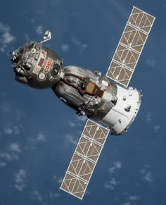 Soyuz visiting the International Space Station.