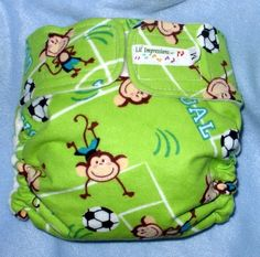 Lil' Impressions AI2 Pocket cloth diaper Soccer by LILIMPRESSIONS, $12.00
