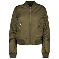 Boohoo Boutique Maisy MA1 Bomber Jacket | Boohoo (€26) ❤ liked on Polyvore featuring outerwear, jackets, layered jacket, puffy bomber jacket, brown jacket, longline bomber jacket and longline jacket