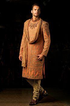 Pure silk Sherwani embellished with zardosi and zari work by #Benzer #Benzerworld #Sherwani #IndianWear #Menswear #MenWithStyle #IndianGroom