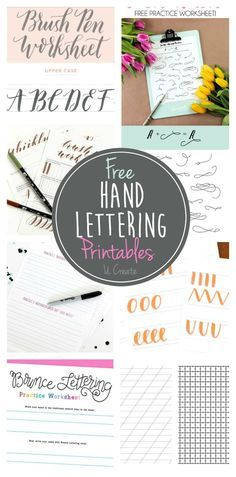 Want to try a new hobby? Hand Lettering is where its at! Talented artists share tutorials and free printable hand lettering worksheets!