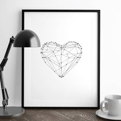 Polygon Love Heart http://www.notonthehighstreet.com/themotivatedtype/product/love-heart-illustrated-polygon-art-print @notonthehighst #notonthehighstreet