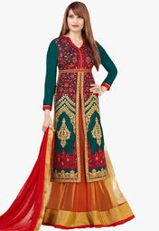 Admyrin Green Embroidery Dress Material Online Shopping Store