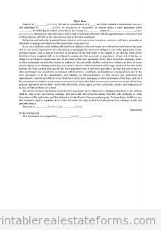 Printable Sample short form Form