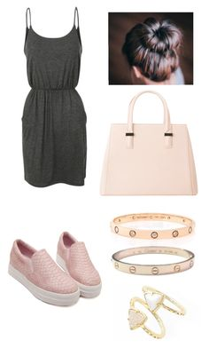 """""""Pnk+gry"""" by sxrxxrxs ❤ liked on Polyvore featuring Cartier, MANGO and Kendra Scott"""